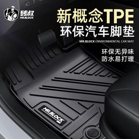 砖叔TPE环保汽车脚垫 专车专用完美贴合不卡刹车油门