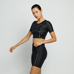 BODYTIME弹力健身裤EMS女提臀运动紧身裤懒人训练裤蜜桃短裤跑步