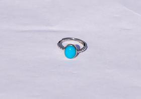 天然绿松石简洁经典戒指
