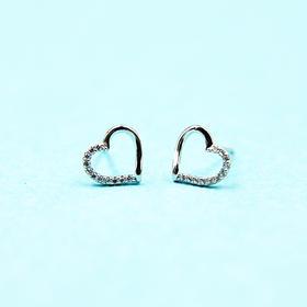 可爱心型、浪漫雪花、钻石环绕*s925时尚银耳饰