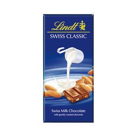 【江浙沪包邮】瑞士lindt/瑞士莲 24.5元/块 瑞士经典排扁桃仁100g 牛奶巧克力单块