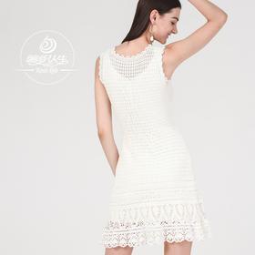 云团织NO.36夏舞无袖连衣裙5号蕾丝材料包含图解