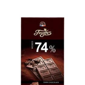 【江浙沪包邮】德菲丝 特醇排装74%可可黑巧克力 23.9元/块 100g