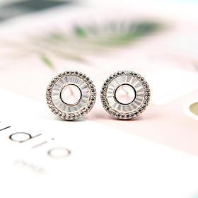 几何圆形、三叶草、八爪鱼型*s925时尚银耳饰