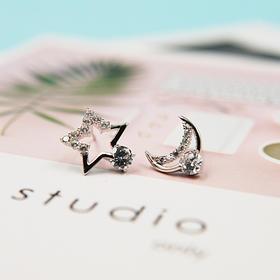 星月、字母CD、贝壳心型*s925时尚银耳饰