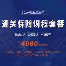 2020年高级经济师-通关保障课程套餐