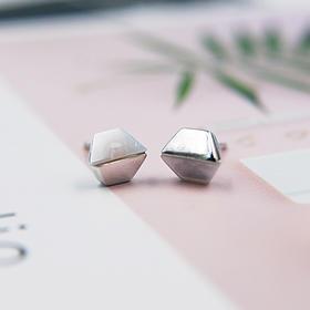 几何六边、优雅梅花、半包圆型*s925时尚银耳饰