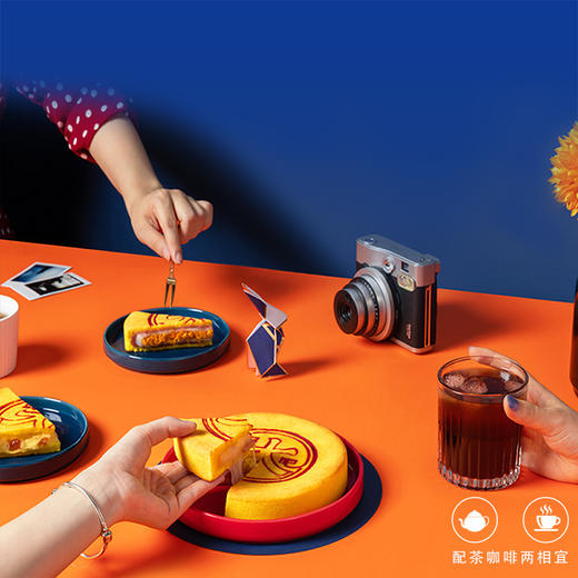 【现货】味BACK 那么大团圆月饼 芋泥咸蛋黄&桃桃爆芝士 手工月饼 团圆共享 500g 礼盒装 商品图5