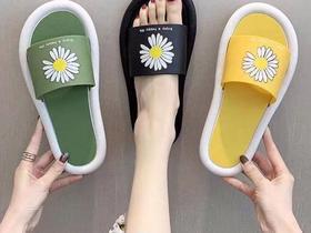 【爆款】夏季小雏菊拖鞋 28/两双(买一送一)