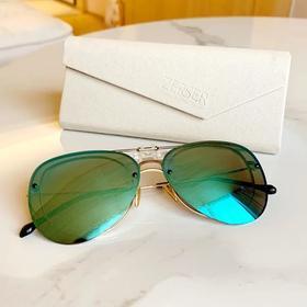 法国ZERSER姿森防紫外线高清眼镜夹片太阳镜-经典飞行员款J8308 镜片夹无边框 送眼镜盒+眼镜包+眼镜布