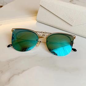 法国ZERSER姿森防紫外线高清眼镜夹片太阳镜-蝶形时尚女款J8307 镜片夹 合金材质 送眼镜盒+眼镜包+眼镜布