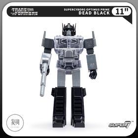 Super7 变形金刚 擎天柱 黑白色 Transformers Super Cyborg Optimus Prime