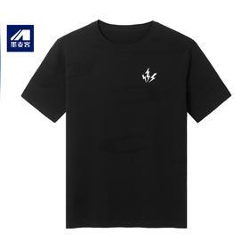 墨麦客男装2020年夏款桑蚕丝针织短袖T恤 圆领提花男士体恤衫7736