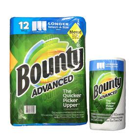 Bounty厨房用纸大卷印花1卷装|瞬吸强韧 双倍吸力 有效除污【日用家居】