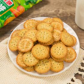 网红日式蔬菜味小圆饼零食休闲薄饼儿童袋装营养饼干 蔬菜小圆饼100g/包