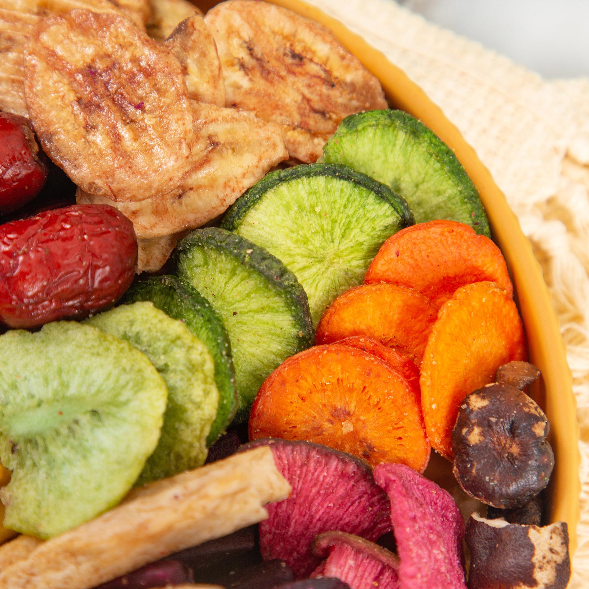 12种综合果蔬干混合装250g 秋葵干什锦果蔬脆脱水蔬菜干零食即食蔬果干健康零食 特惠装果蔬脆 商品图2