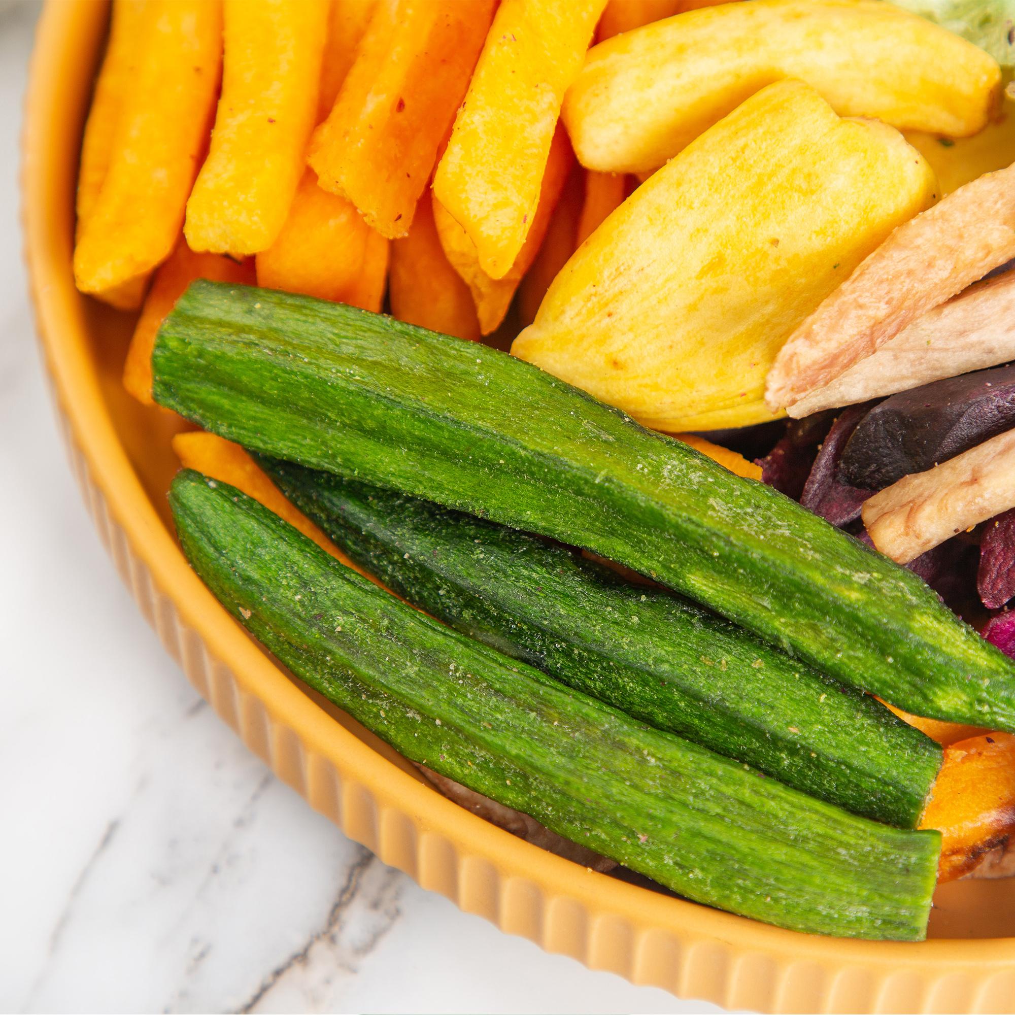 12种综合果蔬干混合装250g 秋葵干什锦果蔬脆脱水蔬菜干零食即食蔬果干健康零食 特惠装果蔬脆 商品图3