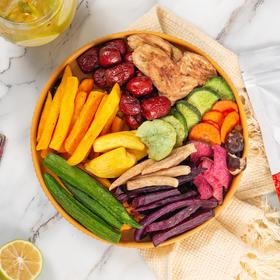 12种综合果蔬干混合装250g 秋葵干什锦果蔬脆脱水蔬菜干零食即食蔬果干健康零食 特惠装果蔬脆