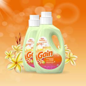 Gain海岛清新织物柔顺剂1.89L/瓶|减少静电 持久留香 衣物更柔软【日用家居】