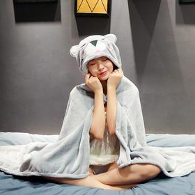 【一披即暖 居家办公神器】8款萌物可选 动物连体睡衣 多功能兼空调毯 懒人睡毯 防风保暖 短毛绒面料