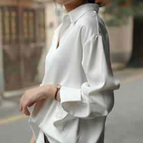限时拍2件送时尚丝巾1条【BAZAAR芭莎 2020新爆款!】显瘦、百搭、显气质复古丝感衬衣,挺括有型,修饰身材,垂感十足,轻盈柔软,纯色更百搭,不挑肤色、不挑场合!