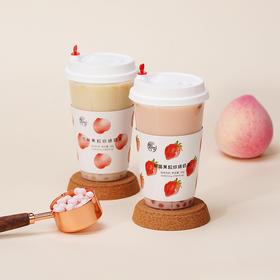 [果粒珍珠奶茶]看得见的真果粒 白桃/草莓2种果粒可选 共4杯 56g/杯