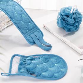 SOFT WAFFLE美人鱼搓澡套装 丨在家也能像澡堂一样搓澡,干净不伤肤