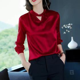 2020初秋新款衬衫,女长袖仿真丝衬衣DB50