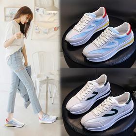 2020新款真皮韩版百搭,平底运动单鞋小白鞋ML3218
