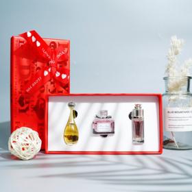 节日送礼物丨迪奥香水小样三件套花漾 甜心、真我、魅惑5ml*3瓶 红色礼盒
