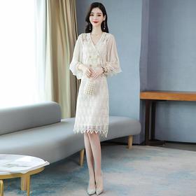 时尚潮流,气质蕾丝两件套HR-BBL9927