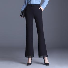 气质修身,时尚大码微喇高腰休闲西裤PXSJ-2011