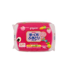 日本贝亲Pigeon 手口清洁湿巾 70枚盒装
