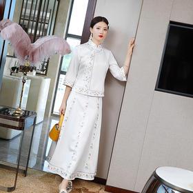 复古中国风,汉服唐装刺绣上衣套裙YFN-20113