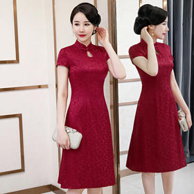 【烛影摇红】高档真丝面料,改良修身旗袍 QQ9733