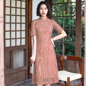复古中国风,改良修身奥黛双层旗袍YT-2163