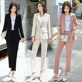 时尚优雅舒适,翻领西装两件套 HR-NJL618