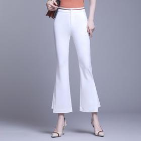 韩版时尚,显瘦九分开叉鱼尾微喇裤MFE-8856