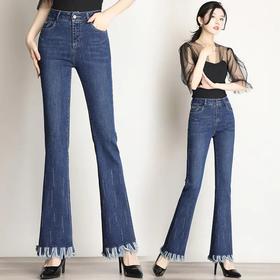 韩版气质,高腰显瘦修身微喇裤AL-6831