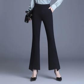 高腰喇叭裤,时尚新款黑色显瘦款 MFE8863
