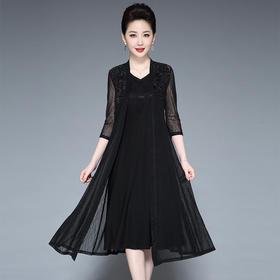 国风复古,舒适透气薄款修身连衣裙YZL-230