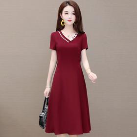 气质修身显瘦,中长款优雅连衣裙YW-KED91235