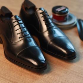 男士三接牛津高级内缝正装皮鞋