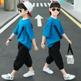 PDD-DDZY200803新款潮流时尚帅气童装两件套TZF