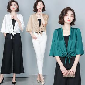 新款短款小披肩防晒衣开衫,小众百搭薄款外套HT- YX6031