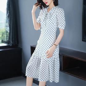 时尚韩版,显瘦气质洋气波点连衣裙YKYM-020-8218