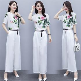 优雅时尚,气质雪纺衫+阔腿裤大牌套装HR-SLYY9A59