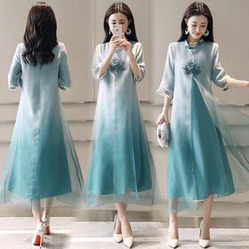 休闲舒适,宽松腰套头时尚简约气质连衣裙HR-HRYZ5624