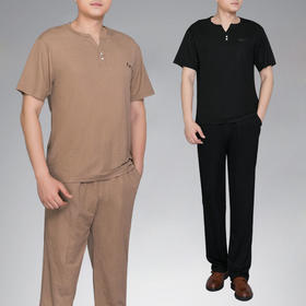 PDD-AFJY200803新款时尚气质休闲弹力棉麻短袖T恤长裤两件套TZF