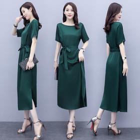 修身显瘦,简约女人时尚系带连衣裙CQ-BX1512